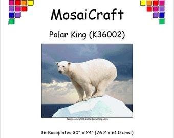 MosaiCraft Pixel Craft Mosaic Art Kit 'Polar King' (Like Mini Mosaic and Paint by Numbers)