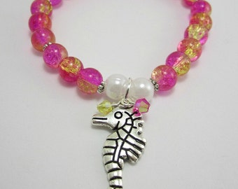 Seahorse Stretch Charm Bracelet