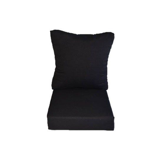 solid black cushion for patio outdoor seat furniture
