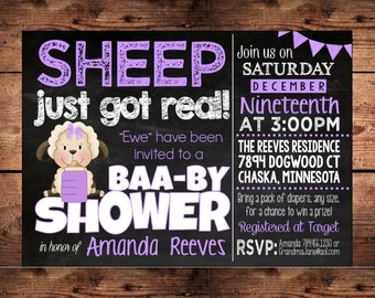 the original sheep just got real funny baby shower invitation baby shower invitation coed