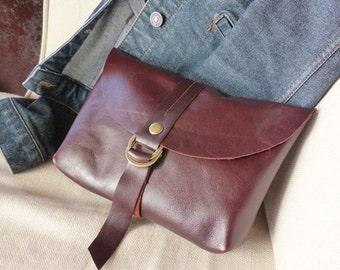 Leather  Clutch Leather Purse Brown Leather Clutch  Handbag Woman Clutch
