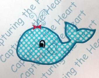 Girl Whale Applique
