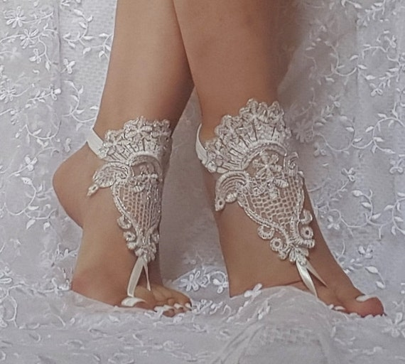 Free ship  ivory silver cord  wedding barefoot sandles wedding prom party steampunk bangle beach anklets bangles bridal bride bridesmaid