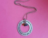 Mothers necklace - The days are long but the years are short - hand stamped custom necklace mothers day moms gift