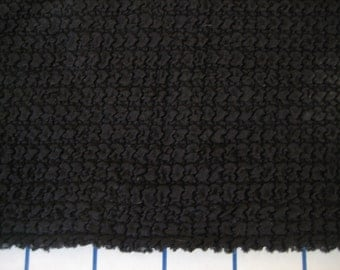 3 Yds Black textured 2-way stretch