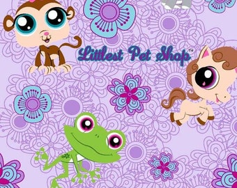Littlest Pet Shop ~Custom Made~ Fitted Crib/Toddler Sheets