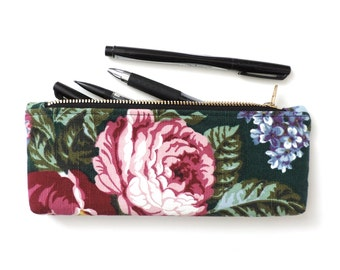 Floral Pencil Case Zipper Pencil Pouch
