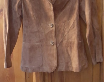 Vtg. Wilsons Suede And Leather Jacket Please Fit According To Listed Measurements
