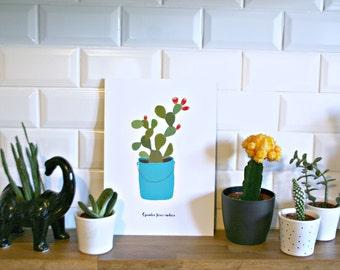 Print- Opuntia Ficus Indica-
