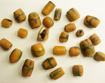 Antique African sand cast trade beads
