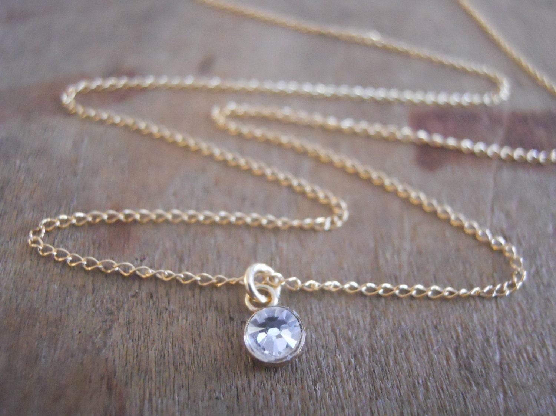 swarovski crystal necklace dainty gold necklace layering. Black Bedroom Furniture Sets. Home Design Ideas