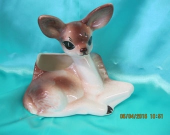Vintage Deer Planter 1960's  Ceramic