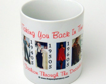 Fashion Through the Decades Coffee Mug