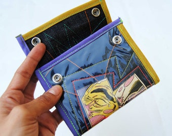 WALLET RECYCLED MATERIAL design upcycled handmade
