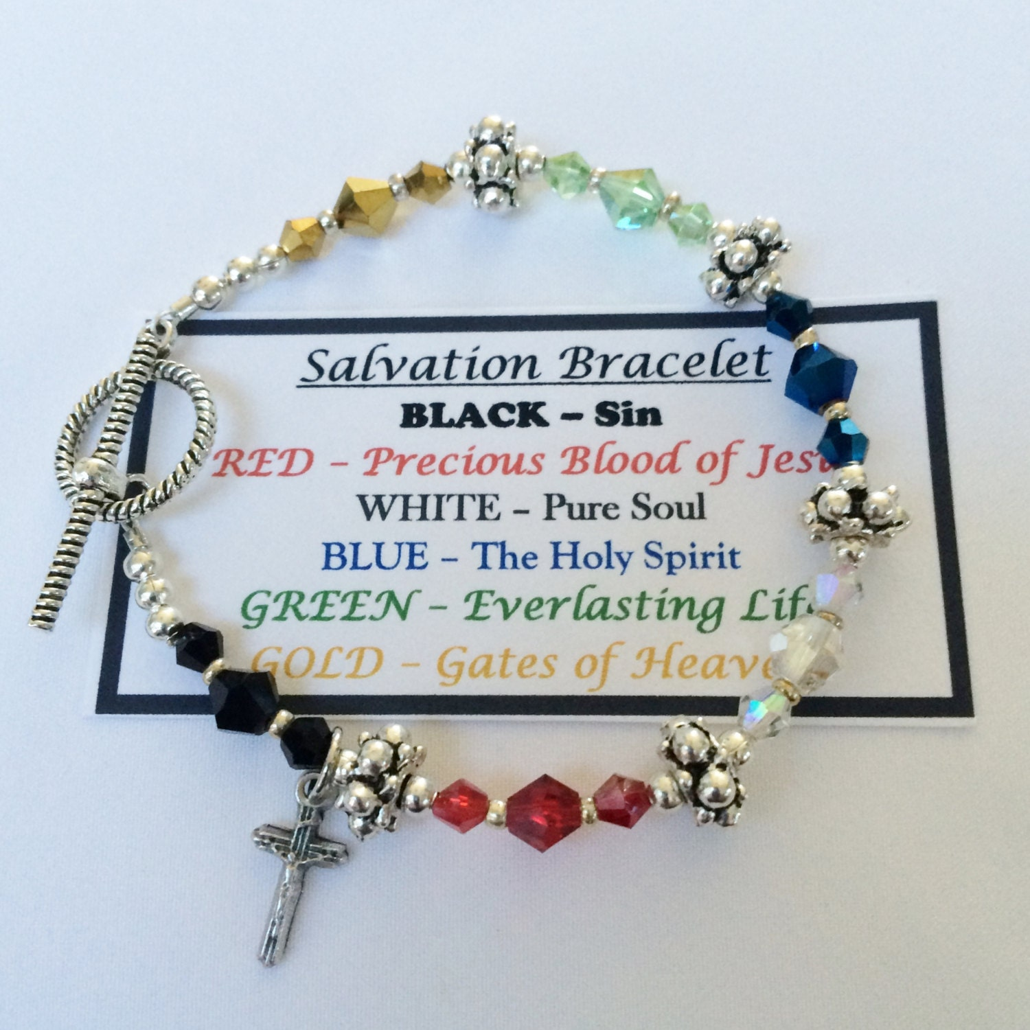 It is a picture of Comprehensive Salvation Bracelet Printable