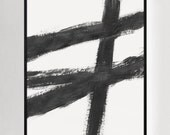 Abstract Paintings, Black And White, Large Wall Art, Modern Painting, Modern Minimalist, Modern Art, Abstract Print, Abstract Art