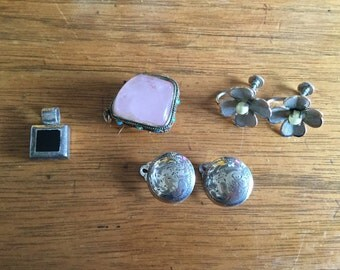 Estate Jewelry Sterling Silver Lot