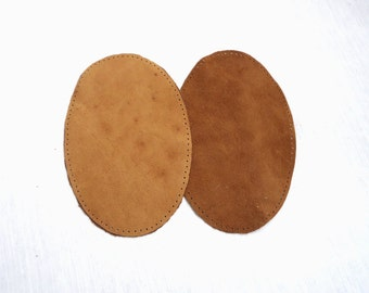 Large sew on leather elbow patches, pre punched elbow patches, light brown, red, white or fuchsia color patches, leather elbow applique