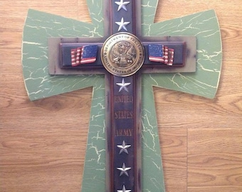 Large Military ARMY Cross
