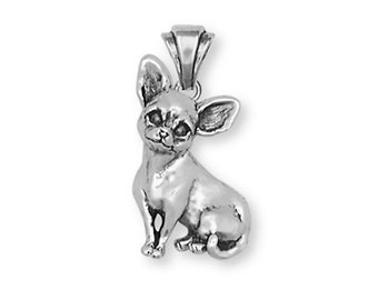 Chihuahua Pendant Jewelry Sterling Silver Chihuahua Charms And Jewelry CHW1-P