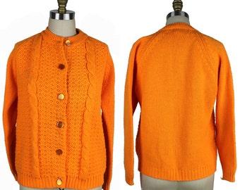 Neon orange sweater | Etsy