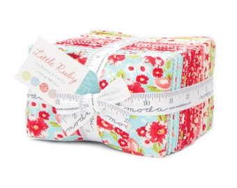 Little Ruby Fabric Fat Eighth Bundle by Bonnie and Camille for Moda Fabrics
