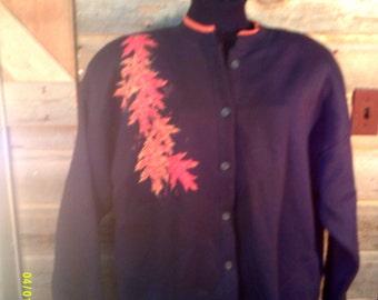 Woman's Vintage Sweat Cardigan, size 2XL, by Coldwater Creek, Womens  size 2XL, Autumn Cardigan 2xl, Button Down Sweat, Sweatshirt Cardigan