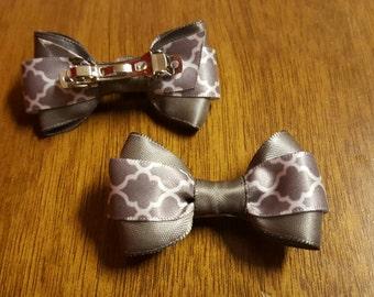 1 gray hair bow