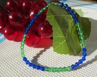 4mm Multi Color Crystal Elastic Bracelet A9