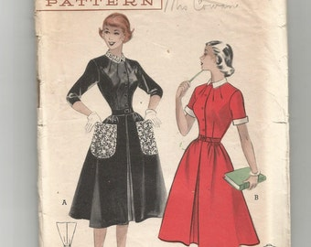 5846 Butterick Sewing Pattern Casual Teen Age DRESS Size 16 34B Vintage 1950s