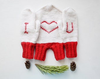 Tandem Mittens for Lovers