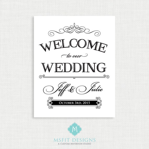 Welcome to Our Wedding Poster - Any Size