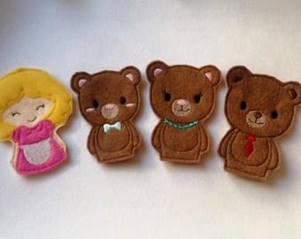 Goldilocks Felt Finger Puppets