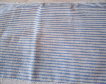 Burp Cloth in blue and white stripe