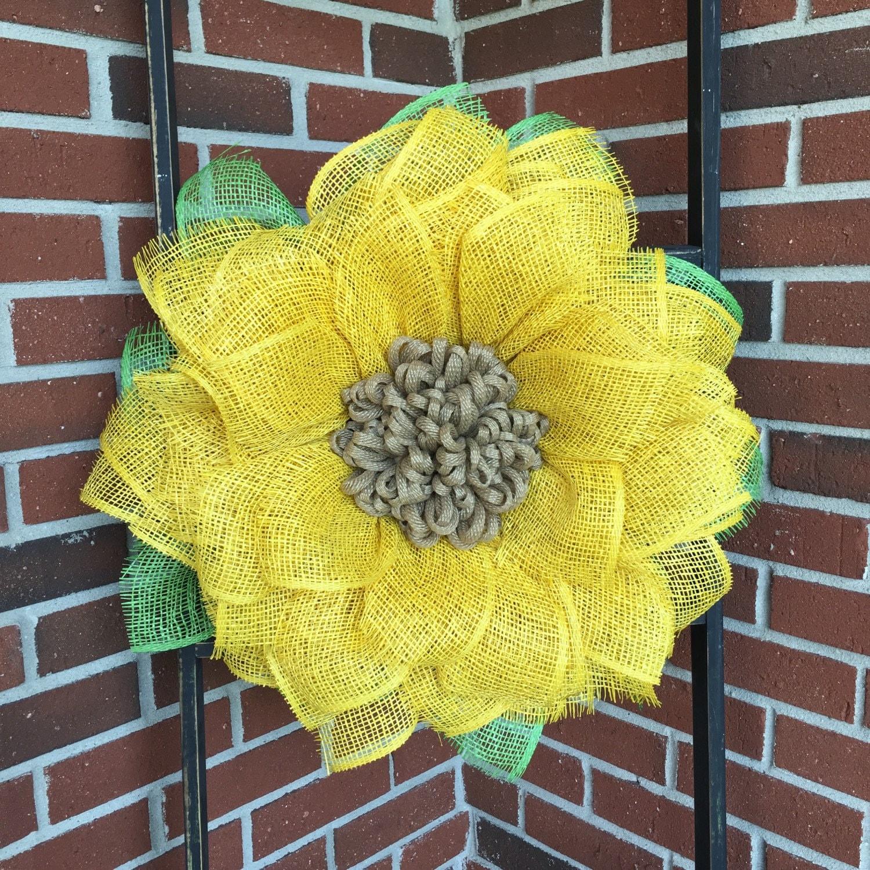 Sunflower Burlap Wreath Burlap Sunflower Wreath Sunflower