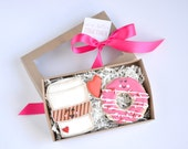 """Donuts and Coffee cookies gift box """"We're Better Together"""""""