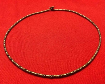 Sterling Silver Collar Circlet Necklace & Cuff Bracelet, Handwrought Twisted Design