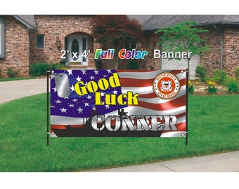 Coast Guard - Good Luck Going Away Banner