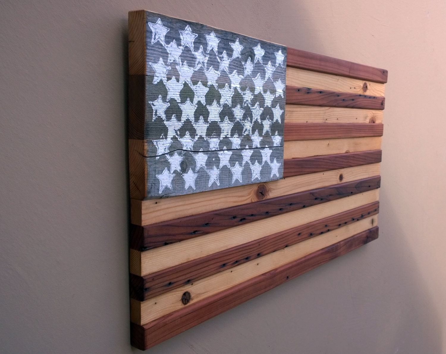 American Flag Reclaimed Wood Wall Decor 13 X 24