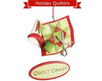Quilt Crazy Holiday Ornament 35-908588-Q