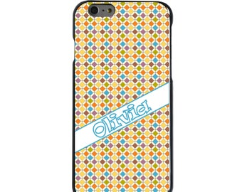 Hard Snap-On Case for Apple 5 5S SE 6 6S 7 Plus - CUSTOM Monogram - Any Colors - Purple Blue Green Yellow