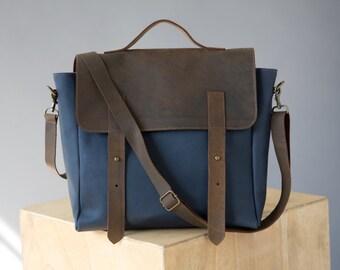 Leather Messenger bag, Messenger bag woman, Crossbody Leather bag, Leather Backpack, Leather satchel, Rucksack backpack, crossbody [p1]