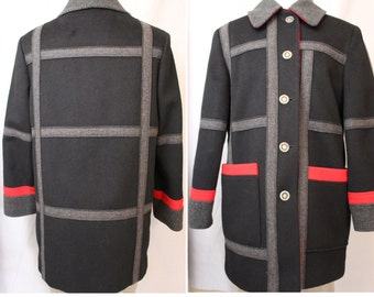 Adorable vintage loring wool winter coat