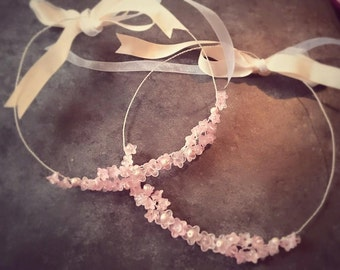 Cherry blossom flower girl hair vine