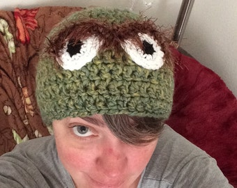 OSCAR THE GROUCH Muppet Beanie