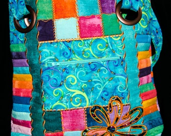 Colorful Patchwork Tote