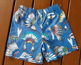 Kids Cotton Shorts - Cherokee Blue