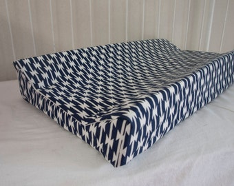 Arizona Aztec Navy and White Baby Contour Changing Pad / Mat Cover