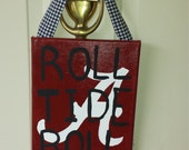 SEC Pride Alabama Roll Tide Football hand-painted canvas Door Hanger