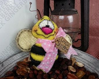 E-Pattern - You Little Stinger Bumble Bee Pattern #101 - Primitive Doll E-Pattern